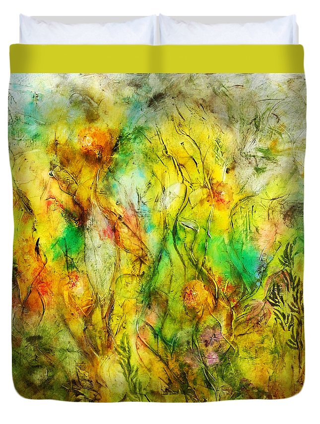 Acrylic Duvet Cover featuring the painting Summers Day by Katie Black