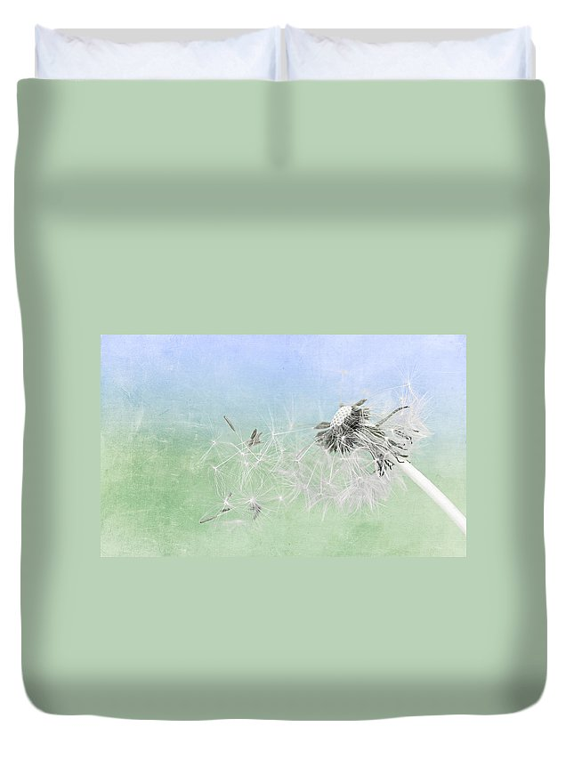 Drops Duvet Cover featuring the mixed media Summertime by Heike Hultsch
