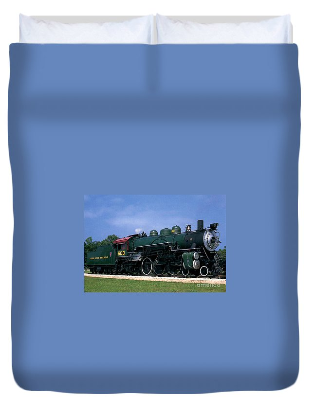 Texas State Railroad Duvet Cover featuring the photograph Texas State Railroad by Ruth Housley
