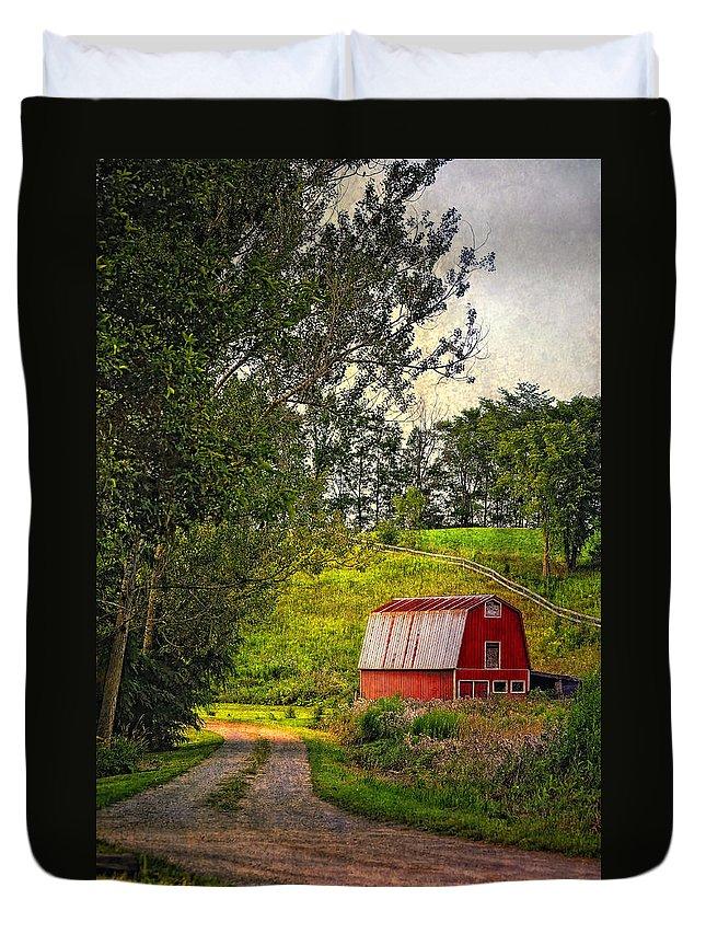Lane Duvet Cover featuring the photograph The Lane by Steve Harrington