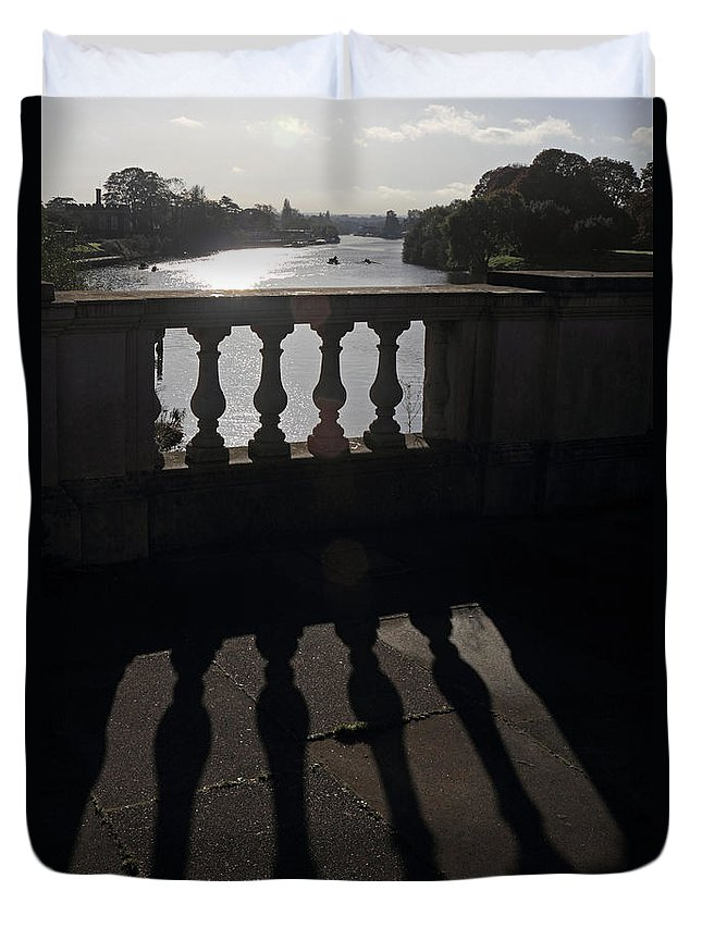 The River Thames At Hampton Court London Duvet Cover featuring the photograph The River Thames At Hampton Court London by Julia Gavin