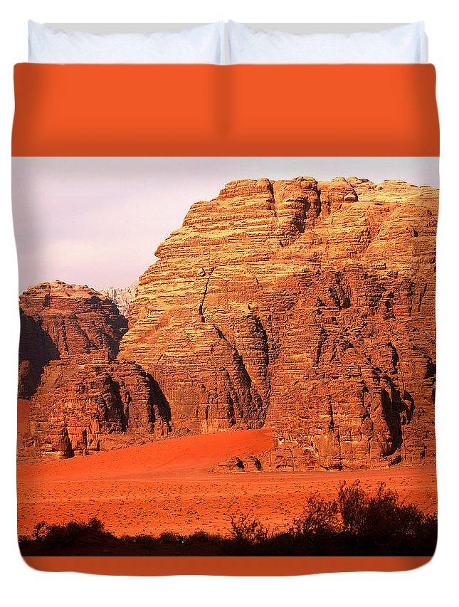 Adventure Duvet Cover featuring the photograph Wadi Rum Desert, Jordan by David Santiago Garcia