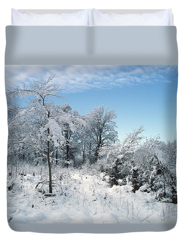 Cold Duvet Cover featuring the photograph Winter Landscape by Patrick Kessler