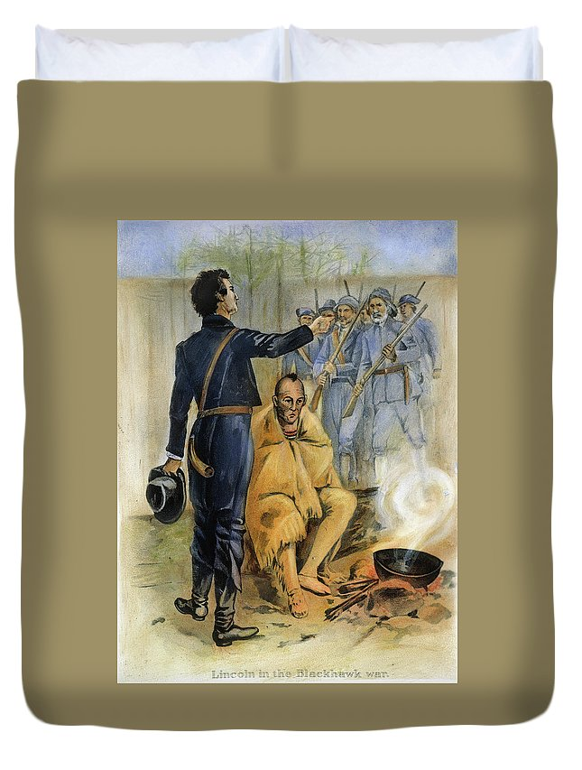 1832 Duvet Cover featuring the painting Abraham Lincoln (1809-1865) by Granger