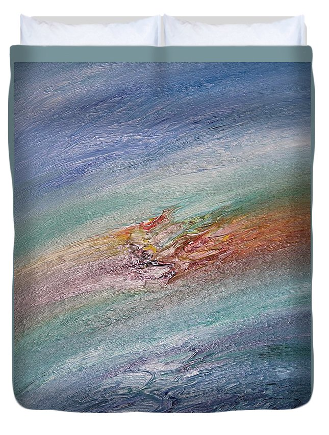 Original Abstract Masterpiece Duvet Cover featuring the painting Original Abstract Masterpiece by Brenda Basham Dothage