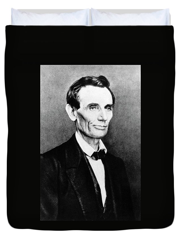 1860 Duvet Cover featuring the photograph Abraham Lincoln (1809-1865) by Granger