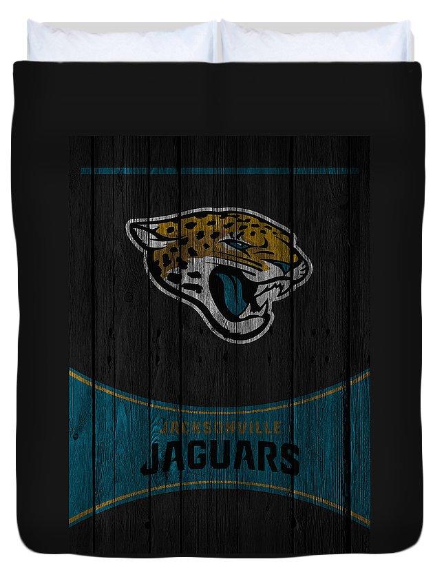 Jaguars Duvet Cover featuring the photograph Jacksonville Jaguars by Joe Hamilton