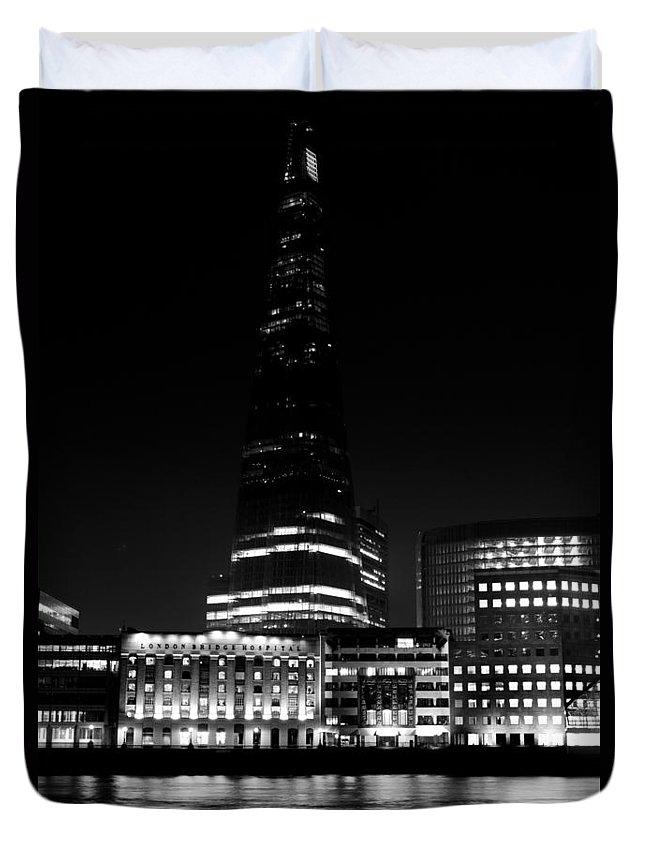 The Shard Duvet Cover featuring the photograph The Shard London by David Pyatt