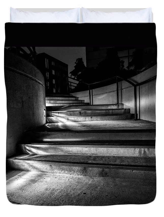Steps Duvet Cover featuring the photograph 3am Portland by Bob Orsillo