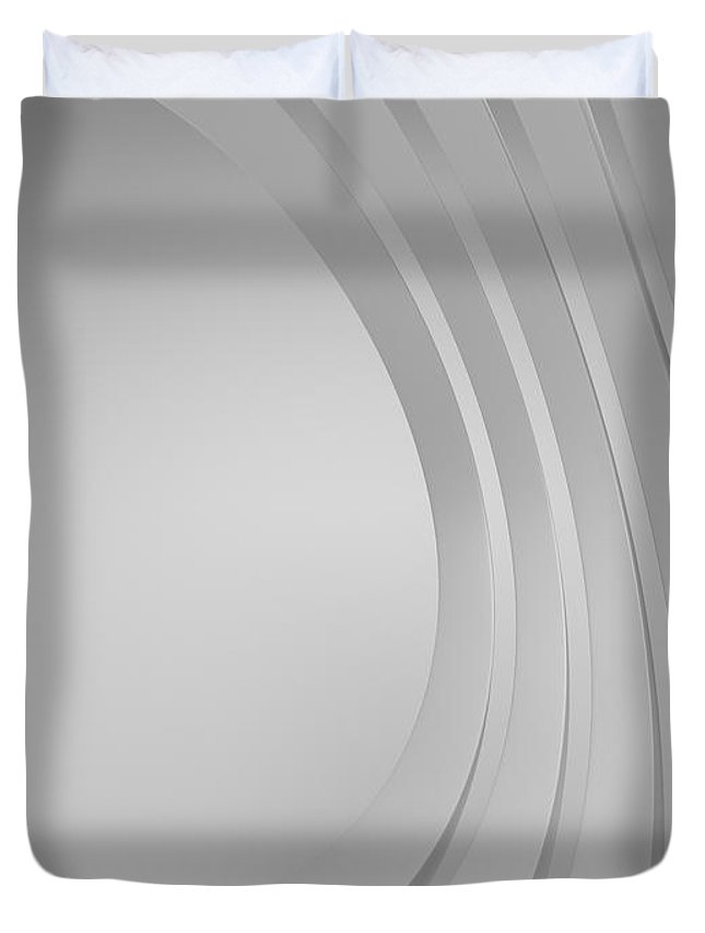Arch Duvet Cover featuring the photograph 3d Blank Abstract Architecture by Me4o