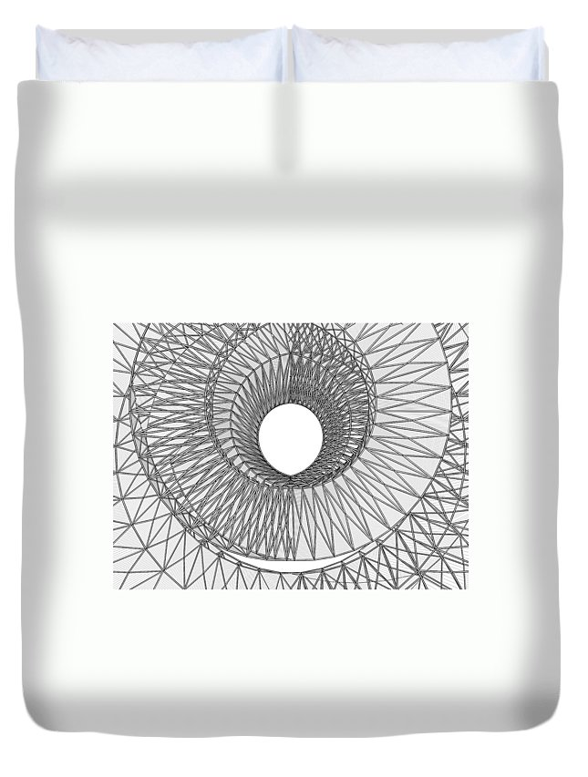 Abstract Duvet Cover featuring the digital art Abstract Structural Construction by Nenad Cerovic