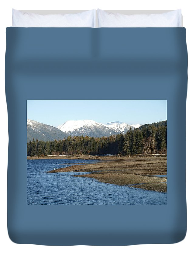 Mountain Duvet Cover featuring the photograph Alaskan Beauty by Jessica Foster