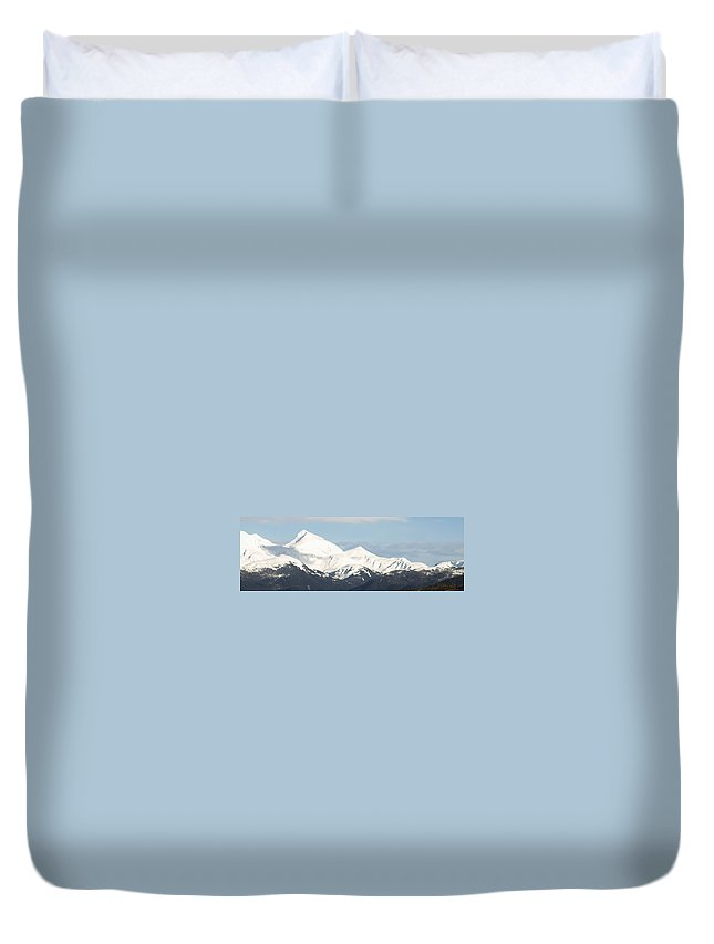 Mountain Duvet Cover featuring the photograph Alaskan Landscape by Jessica Foster