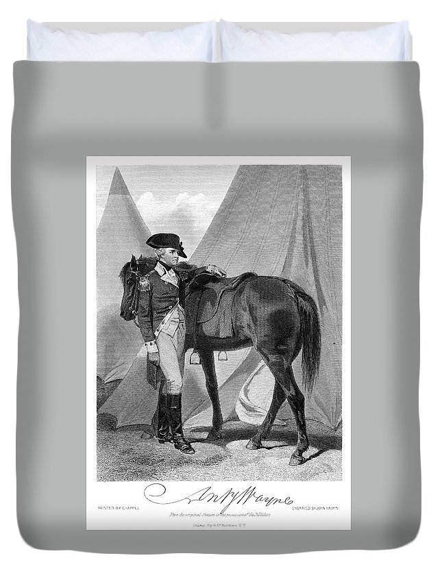 18th Century Duvet Cover featuring the painting Anthony Wayne (1745-1796) by Granger