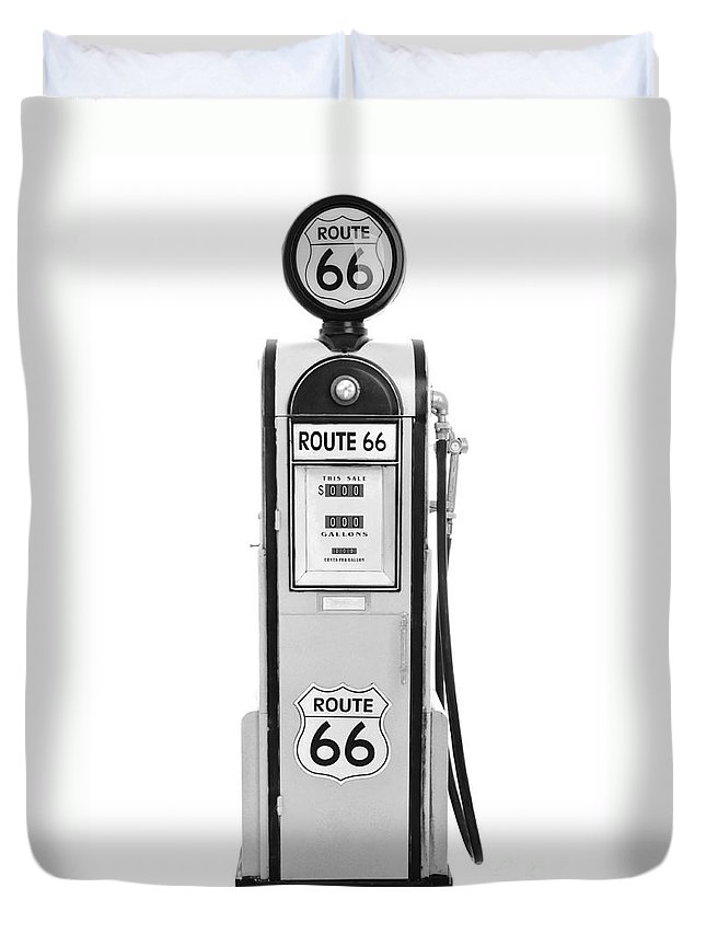 Fuel Duvet Cover featuring the photograph Antique Fuel Pump by Luis Alvarenga