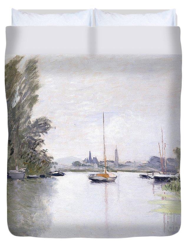 Monet Duvet Cover featuring the painting Argenteuil by Claude Monet