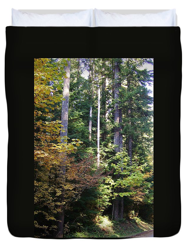 Bloom Duvet Cover featuring the photograph Autumn 8 by J D Owen
