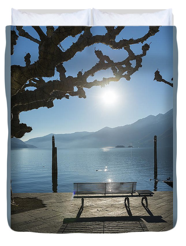 Bench Duvet Cover featuring the photograph Bench by Mats Silvan