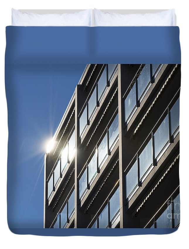 Building Duvet Cover featuring the photograph Building by Mats Silvan