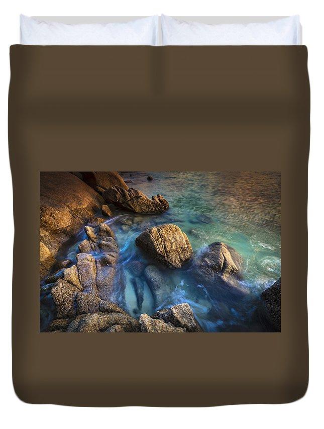 Mugardos Duvet Cover featuring the photograph Chanteiro Beach Galicia Spain by Pablo Avanzini