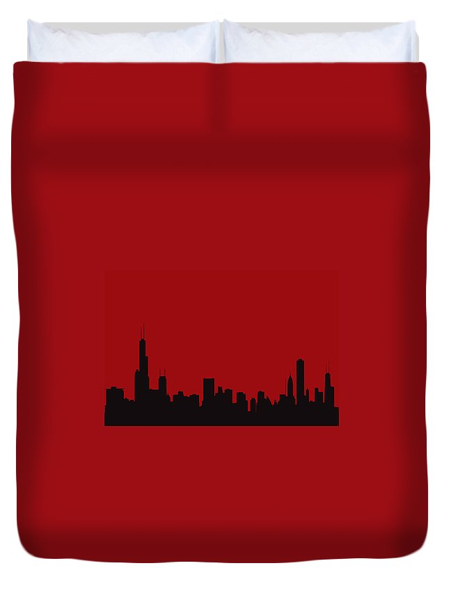 Chicago Duvet Cover featuring the photograph Chicago Bulls by Joe Hamilton
