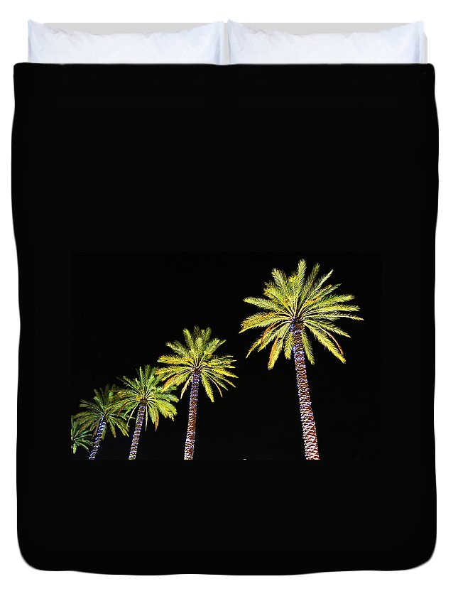 Alabama Duvet Cover featuring the digital art 4 Christmas Palms by Michael Thomas