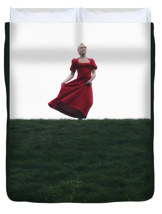 Girl Duvet Cover featuring the photograph Dancing by Joana Kruse
