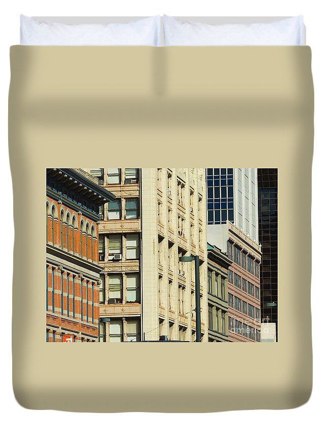 Denver Duvet Cover featuring the photograph Denver City Scenes by Lee Roth