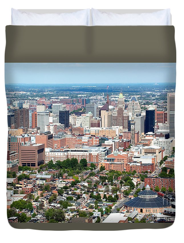 Baltimore Duvet Cover featuring the photograph Downtown Baltimore by Bill Cobb