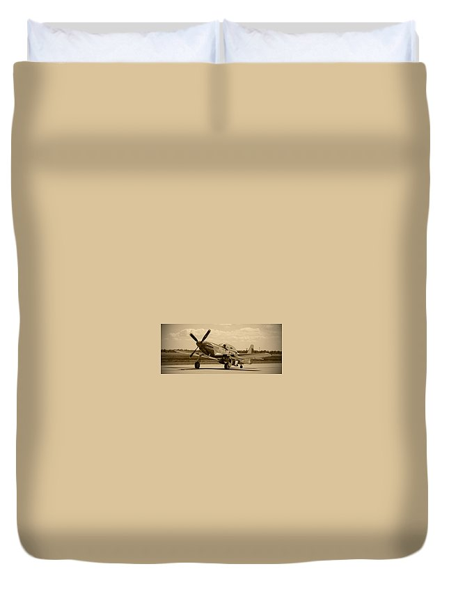 Galveston Duvet Cover featuring the photograph Galveston Gal by Richard Booth