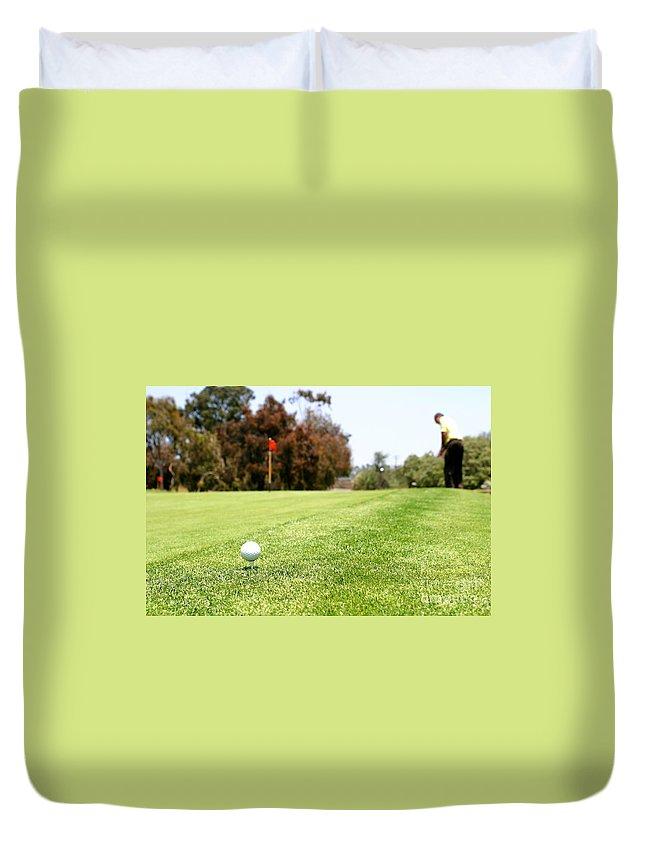 Challenge Duvet Cover featuring the photograph Golf by Henrik Lehnerer