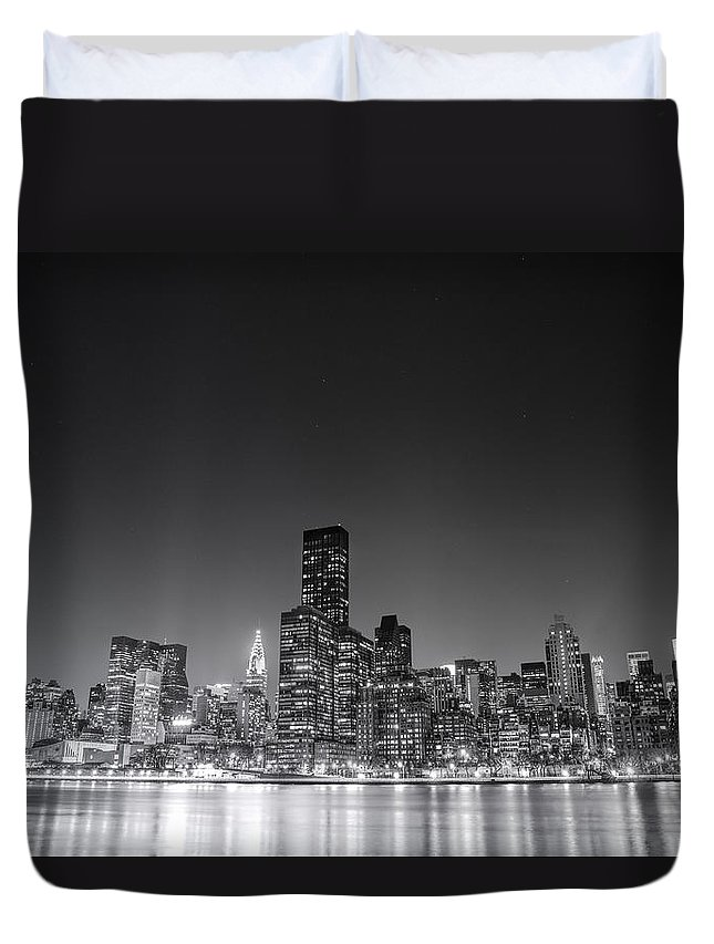 Nyc Duvet Cover featuring the photograph New York City by Vivienne Gucwa