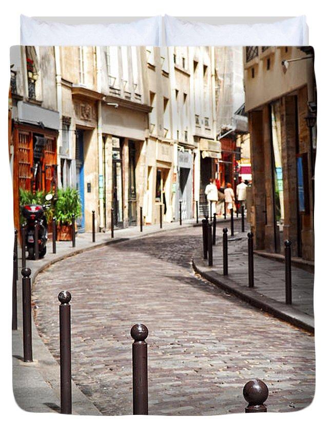 Street Duvet Cover featuring the photograph Paris Street by Elena Elisseeva