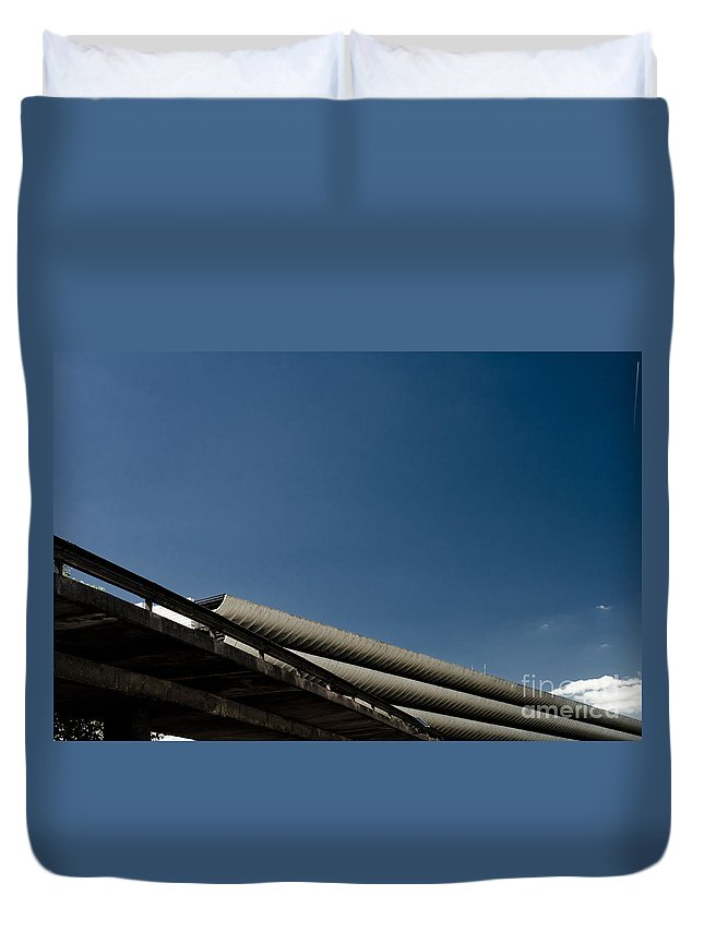 2011 Duvet Cover featuring the photograph Preston Bus Station by Paul Adams