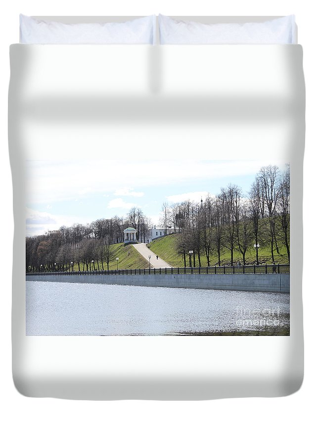Yaroslavl Duvet Cover featuring the photograph Quay by Evgeny Pisarev