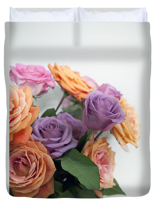 Roses Duvet Cover featuring the photograph Roses by Amanda Barcon