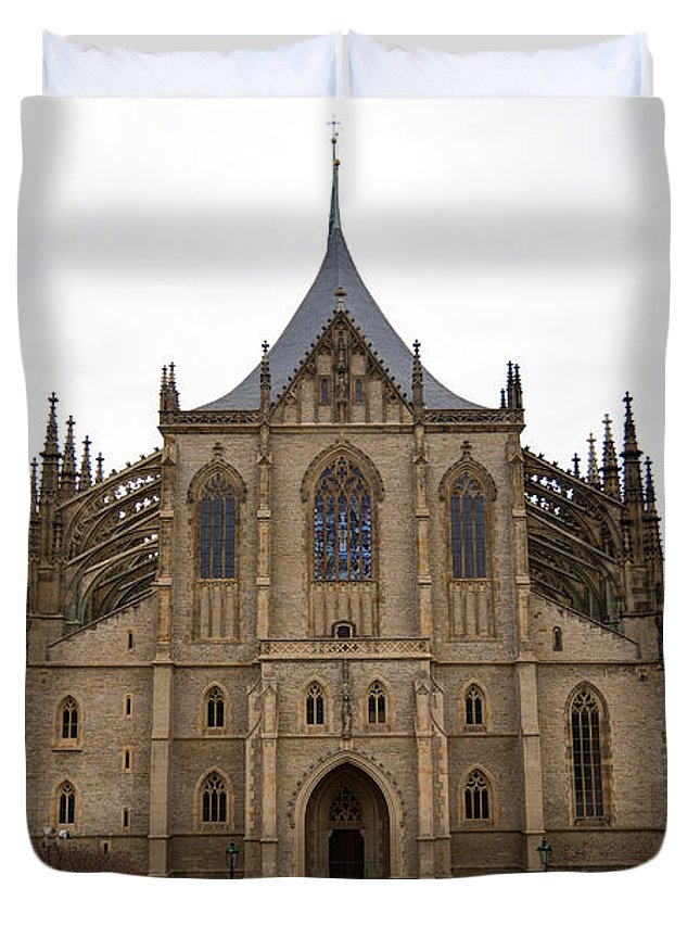 Kutna Hora Duvet Cover featuring the photograph Saint Barbara Church by Michal Boubin