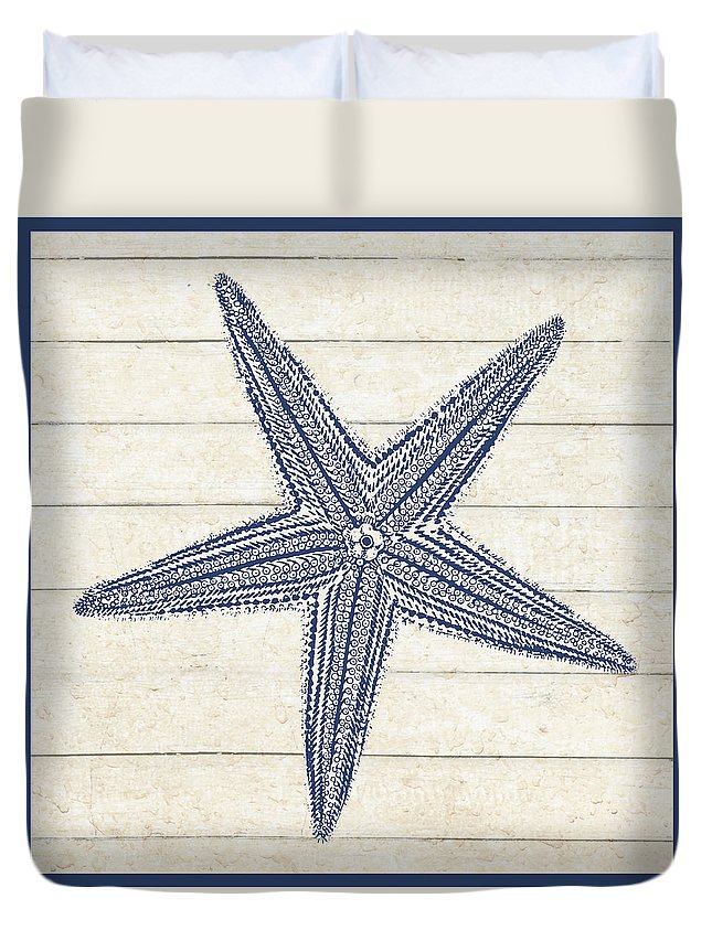 Gail Fraser Duvet Cover featuring the drawing Sand Treasures by MGL Meiklejohn Graphics Licensing