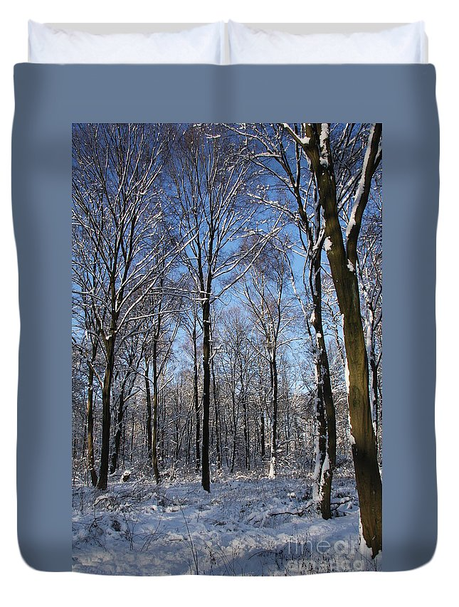 Winter Duvet Cover featuring the photograph Snowy Landscape by Christiane Schulze Art And Photography
