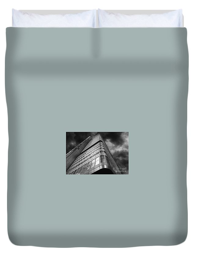 Building Duvet Cover featuring the photograph The Building by Mike Nellums