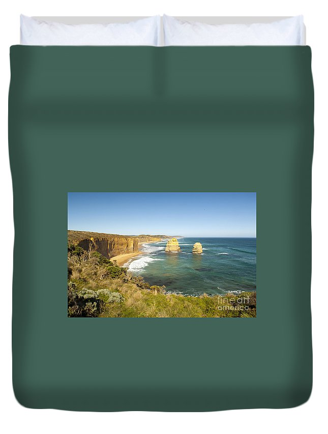 Australia Duvet Cover featuring the photograph Twelve Apostles by Tim Hester
