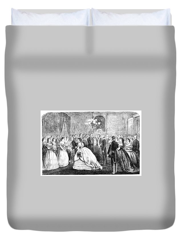 1866 Duvet Cover featuring the painting Ulysses S by Granger
