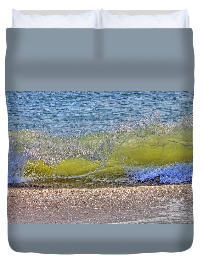Wave Duvet Cover featuring the photograph Wave by Betsy Knapp