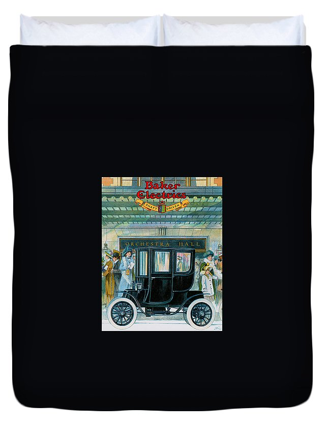 Vintage Automobile Ads And Posters Duvet Cover featuring the photograph Baker Electrics by Vintage Automobile Ads and Posters
