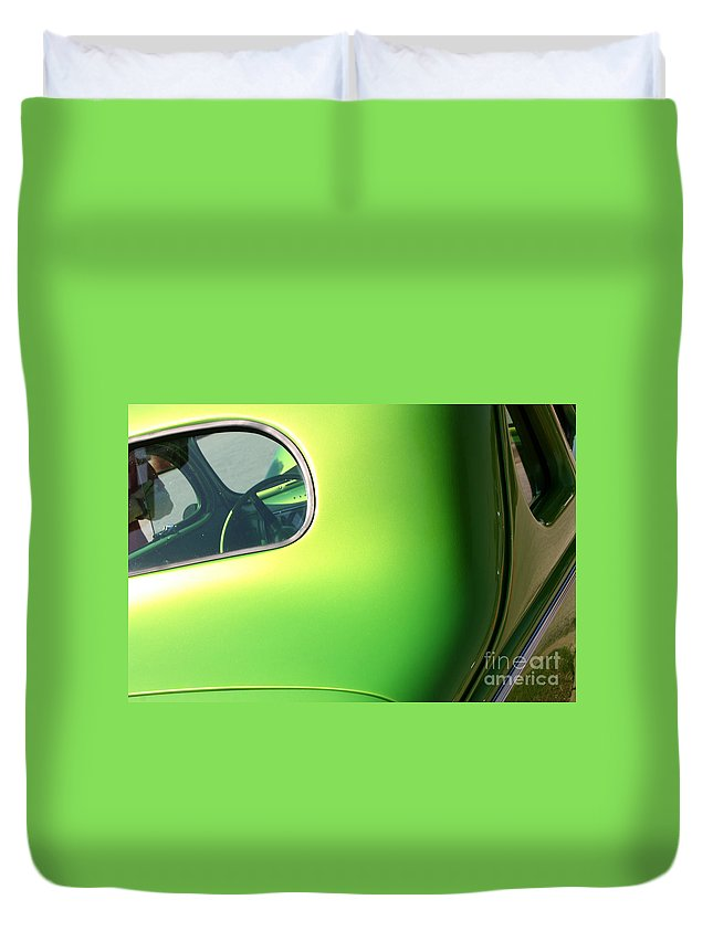 1940 Duvet Cover featuring the photograph 40 Ford - Rear Window-8547 by Gary Gingrich Galleries