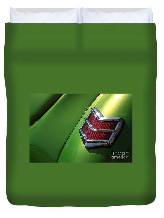 1940 Duvet Cover featuring the photograph 40 Ford - Tail Light-8531 by Gary Gingrich Galleries