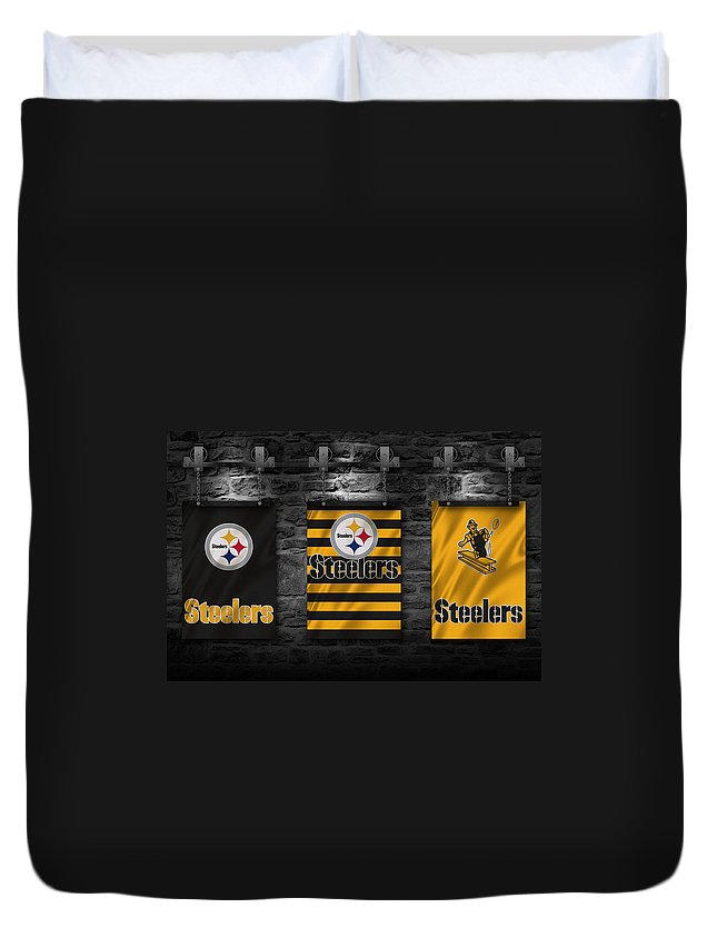 Steelers Duvet Cover featuring the photograph Pittsburgh Steelers by Joe Hamilton