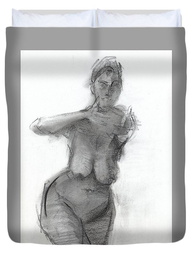 Drawing Duvet Cover featuring the drawing Rcnpaintings.com by Chris N Rohrbach