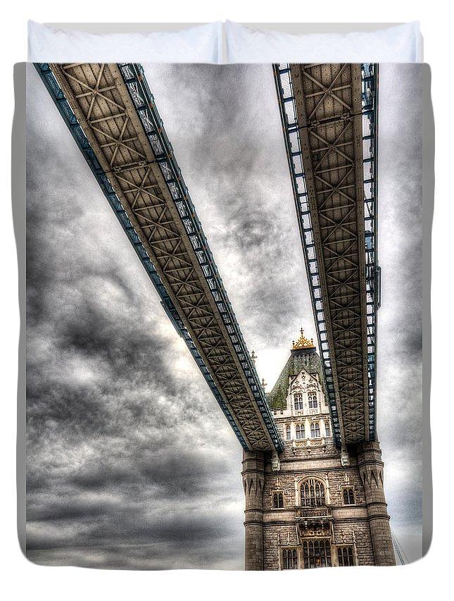 Tower Bridge Duvet Cover featuring the photograph Tower Bridge London by David Pyatt
