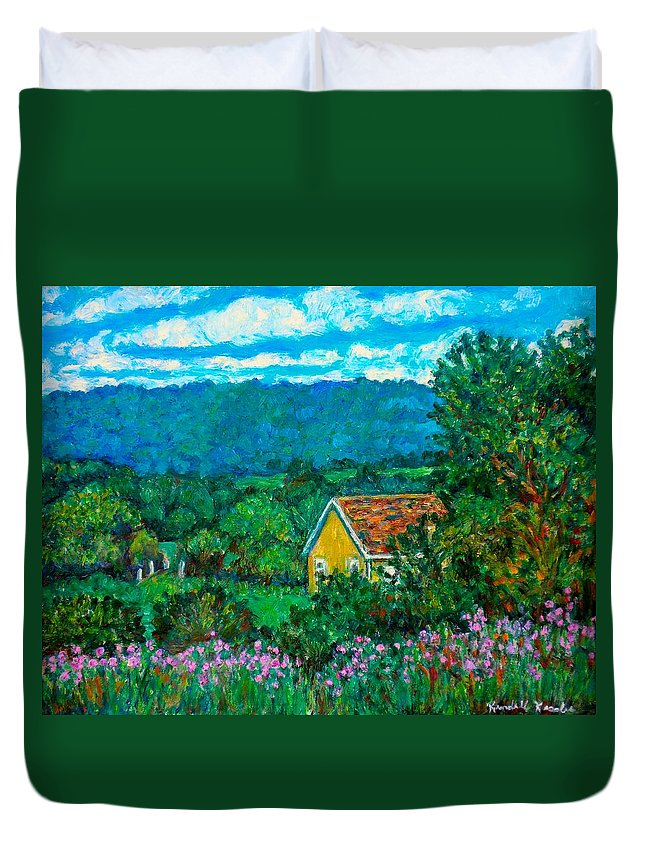 Landscape Duvet Cover featuring the painting 460 by Kendall Kessler